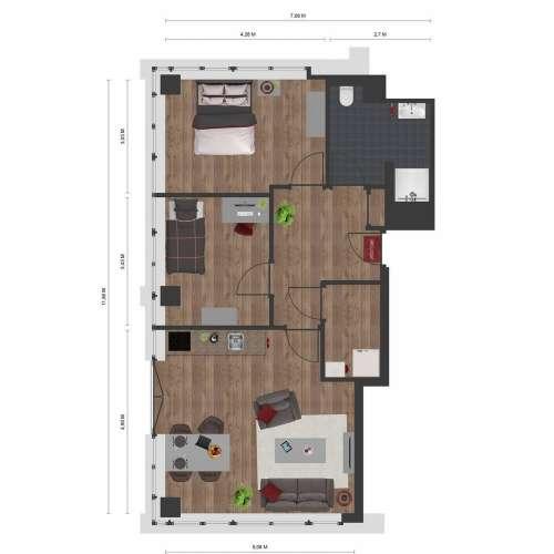 Foto #416e937b-118f-471e-9d2e-8e5a847ac01b Appartement Corneliusflat Roosendaal