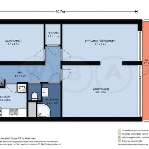 Foto #4cef7909-7734-4371-aeaf-d60d4276038e Appartement Kraaiensteinlaan Arnhem